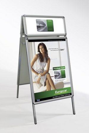 Kundenstopper Classic DIN A1 mit Logorahmen - NEU