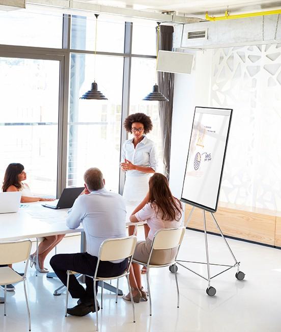 Meeting, Whiteboard/Flipchart Standmodell