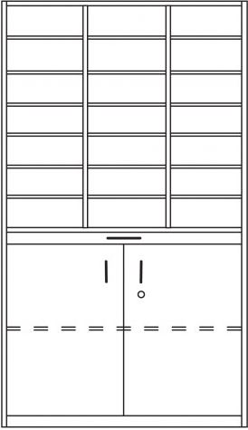 IP-Regal, Postfachschrank-Postsortierschrank