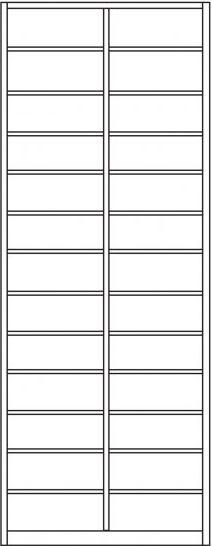 Postsortierschrank bzw. Postfachschrank , IP-Maxi/625 26 Fächer