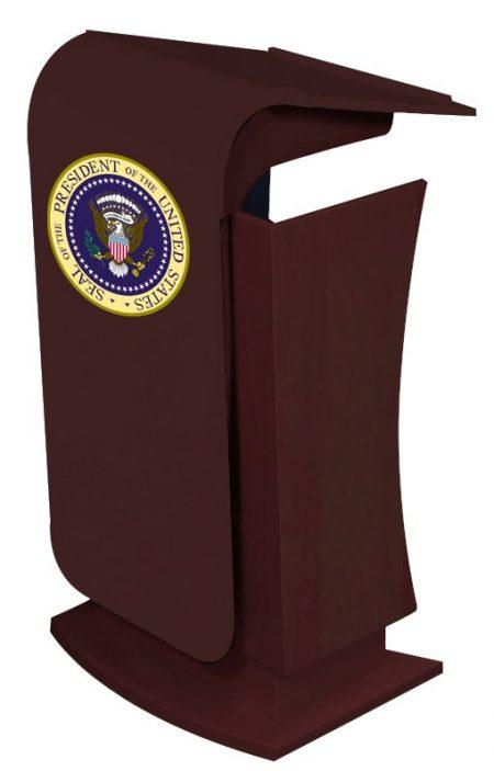 President, Rednerpult höhenverstellbar