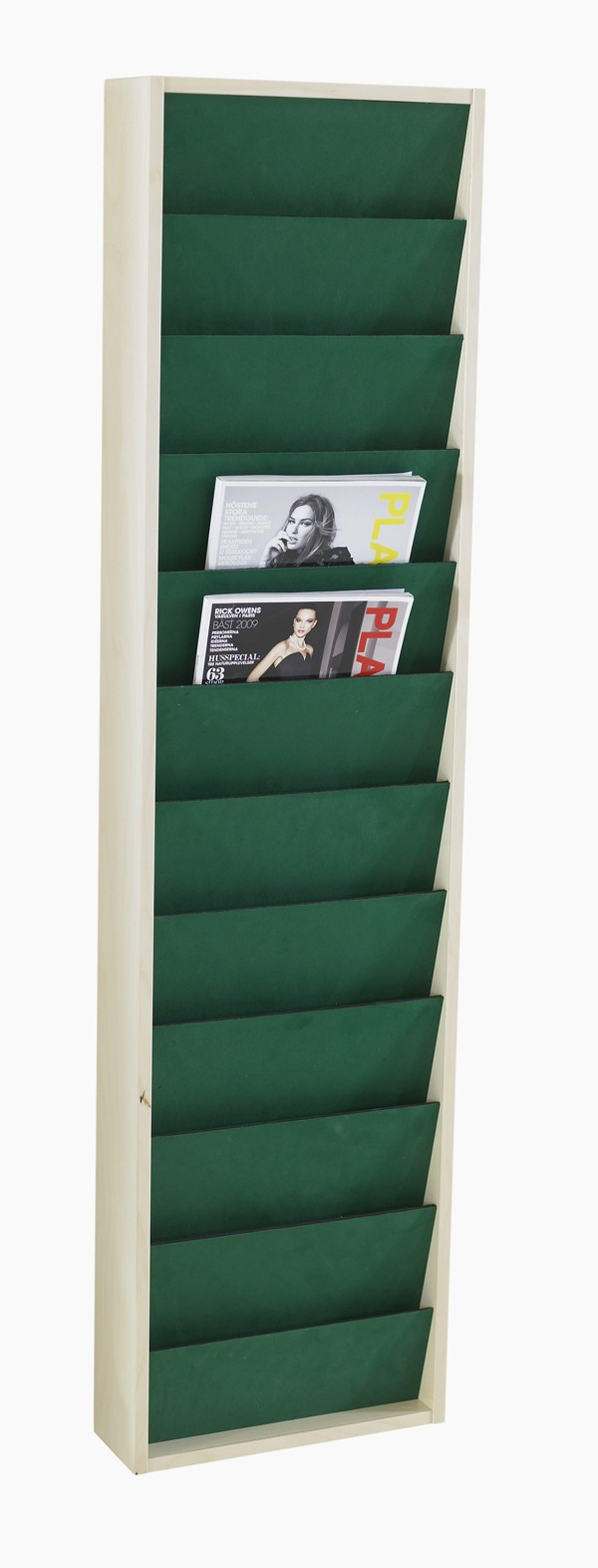 Rida, Zeitschriftenwand