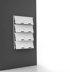 Designer Prospektständer und Wandprospekthalter bei uns-p 2 5 8 5 2585 Flat Wandprospekthalter 289x300-