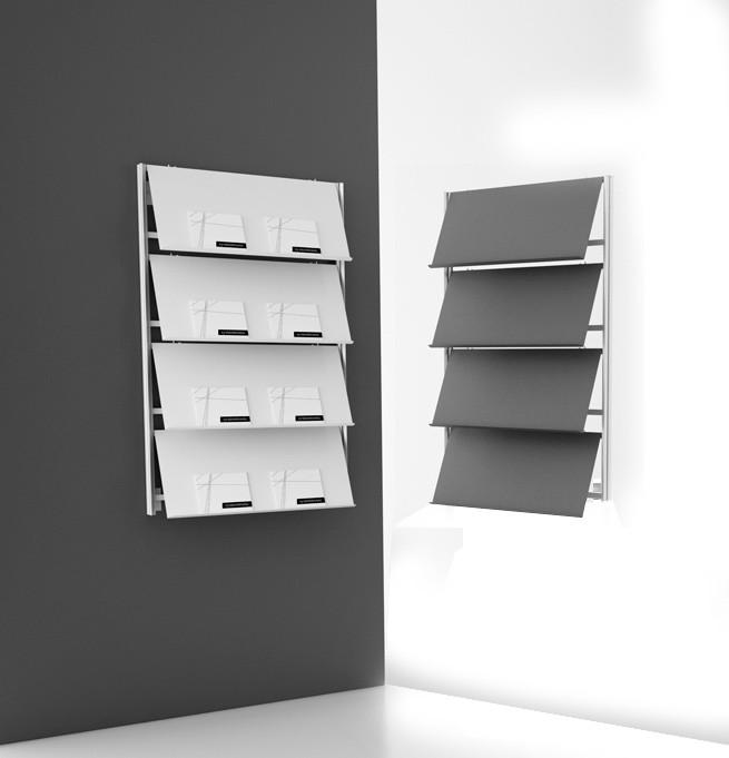Qualitativ hochwertige Wandprospekthalter und Prospektständer-p 2 5 8 6 2586 Flat Wandprospekthalter-