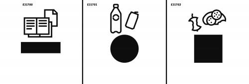 """Recycling Combi 3-<p>Schrank mit 190-l-Kunststoffbehälter auf Rollen</p><span style=""""font-size:0.6em;color:#33b1cb;"""">Versand auch in die Schweiz, nach Österreich und in das Fürstentum Liechtenstein</span>"""