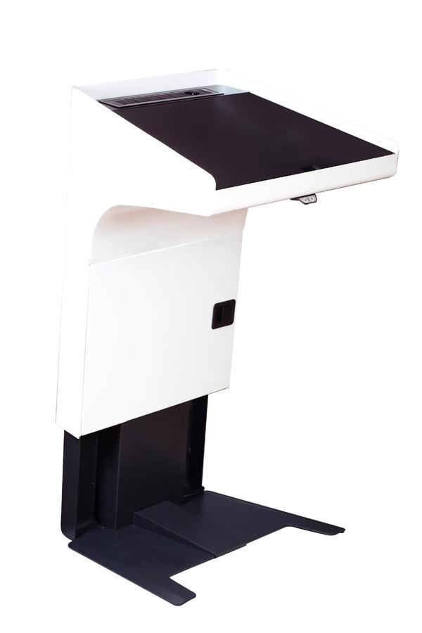 Elektrisch höhenverstellbares Rednerpult für Rollstuhlfahrer-p 3 2 4 1 3241 KANZLER barrierefreies Rednerpult mieten elektrische Hoehenverstellung-