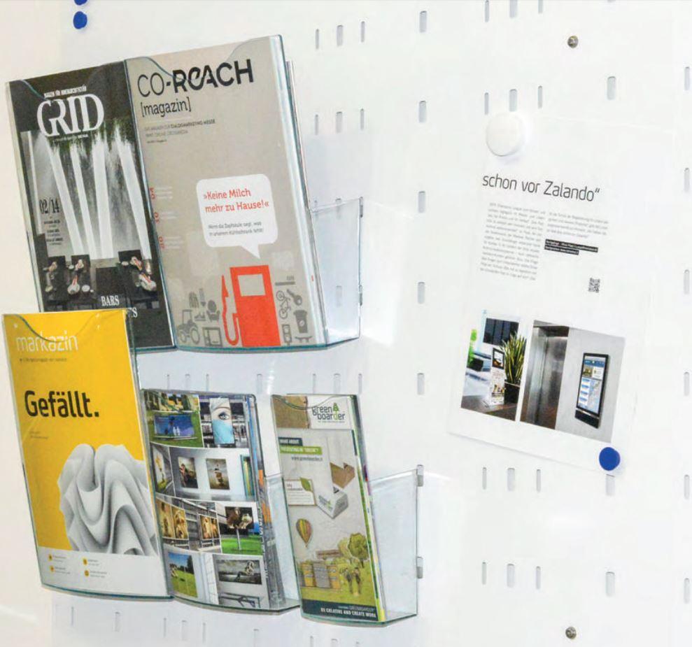 Wandprospekthalter-System, FlatFlex