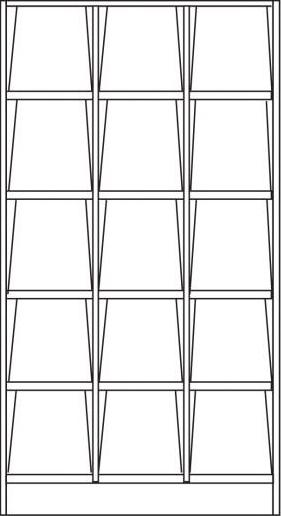 Prospektschrank-Broschürenschrank-Katalogschrank, Hochwertige Verarbeitung EXPO