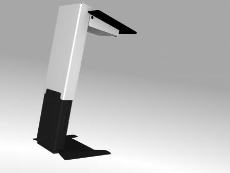 Akademie, elektrisch höhenverstellbares Rednerpult barrierefrei