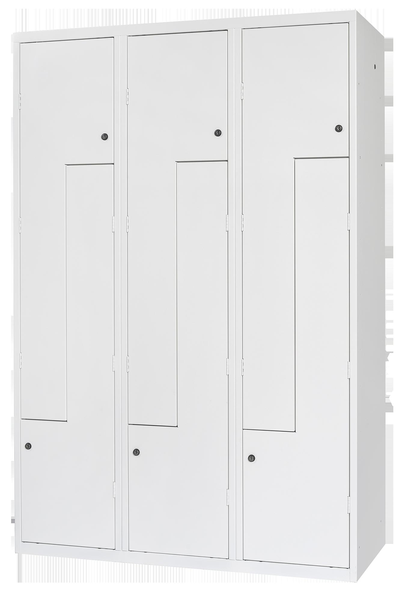 Garderobenschrank mit einliegenden Türen aus Metall