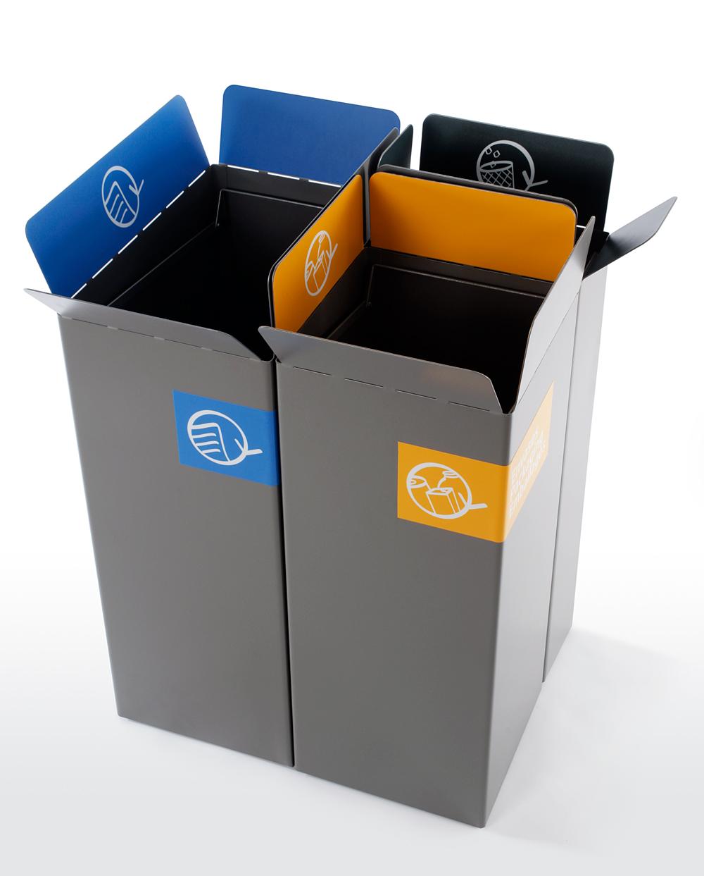 Abfalltrennung für ihr Büro, ein muss für die Umwelt-Card mülltrennsystem abfalleimer 10-