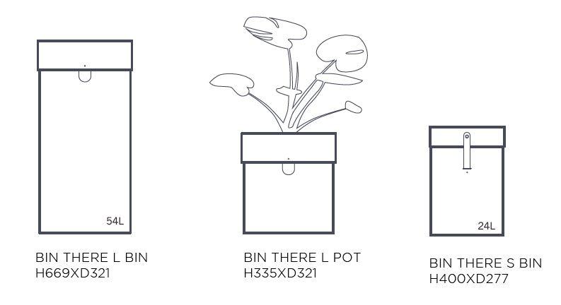 Mobiler Abfallbehälter Design [BIN THERE]-Die runden Behälter mit Lederdetails und Holzdeckeln lösen die kleinen Sortieranforderungen mit Eleganz Preis pro Behälter ohne Deckel, ohne Trolley