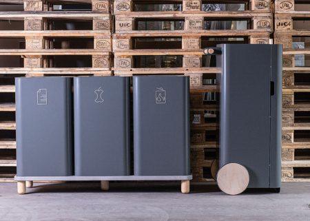 Mobiler Abfallbehälter ARKITYP 125L-140L Design