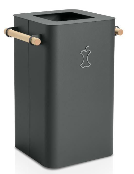 Abfallbehälter ARKAD-Eleganter und starker Eindruck, um Ordnung für Ihre Recyclingbedürfnisse zu schaffen. Typische Funktion mit atypischer Form.