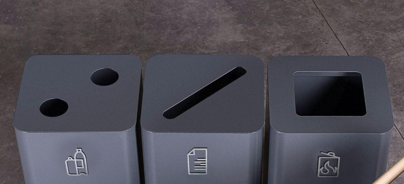 ARKIV bzw. ARKAD Abfallbehälter Entsorgungsöffnungen