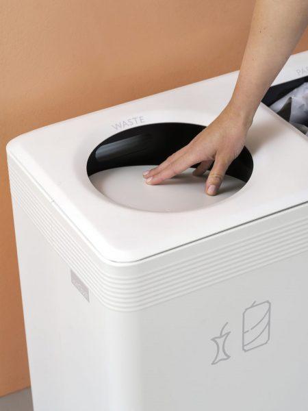 Verschlussklappe bzw. Rollen für Ditch Abfalltrennsystem