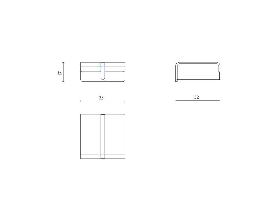 Blossom Wandgarderobe-Wandhalterungen in 2 Ausführungen, 35 oder 90 cm Breite.