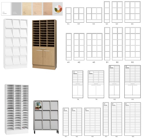 IP-Formular Regal Postsortierschrank, Single/Maxi 13Fächer
