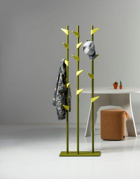 Garderobenständer Bamboo Stahl, 15 Haken