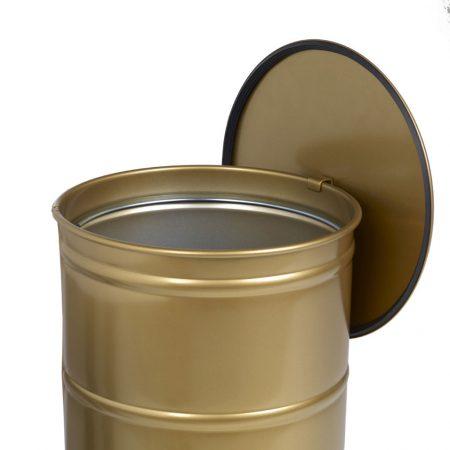Single Gold Brooklyn Bin Abfallbehälter mit Füßen