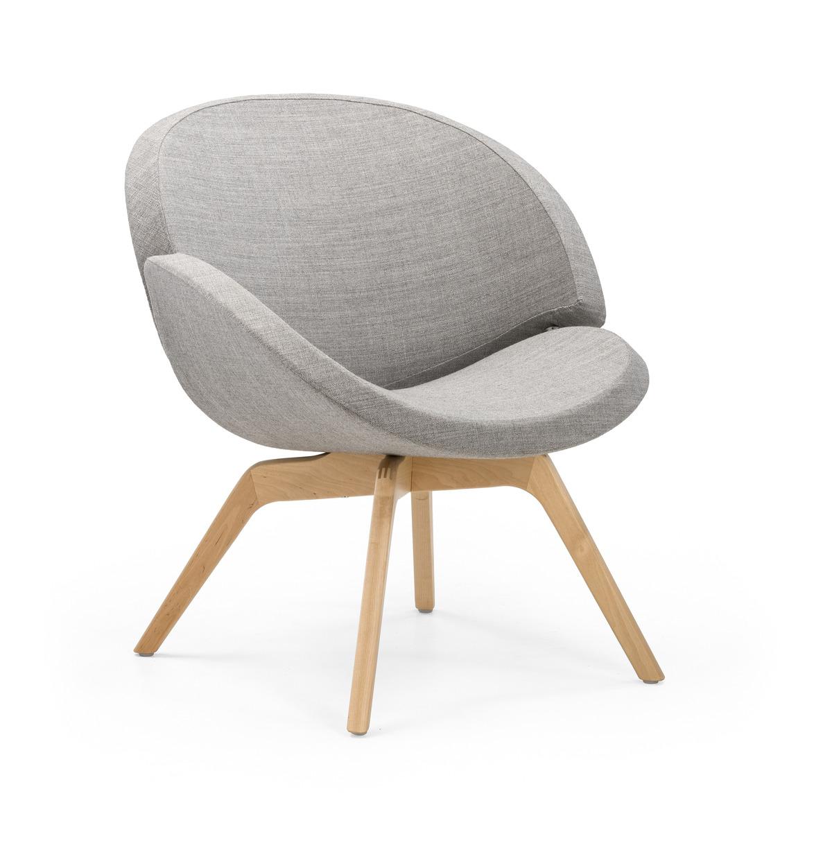 Twin Stuhl mit Holzbeinen