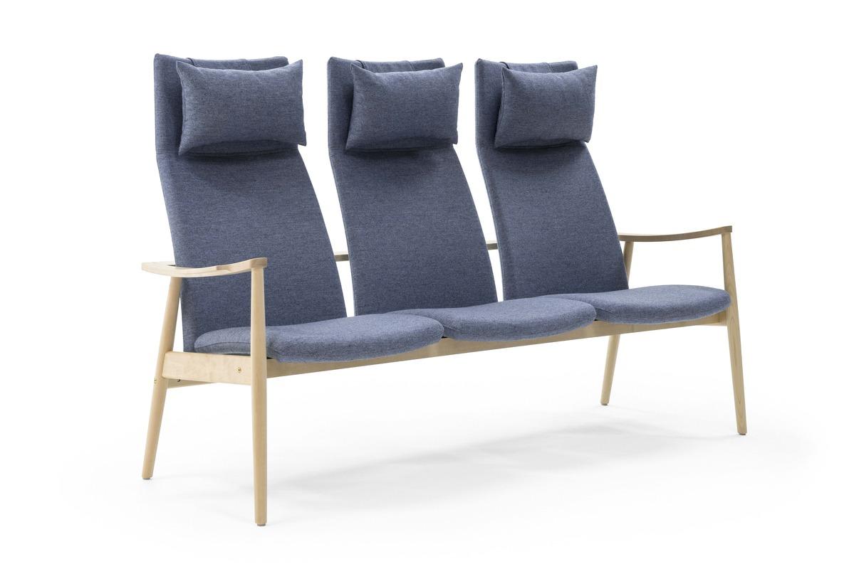 Nordia Sitzgruppe mit hoher Rückenlehne